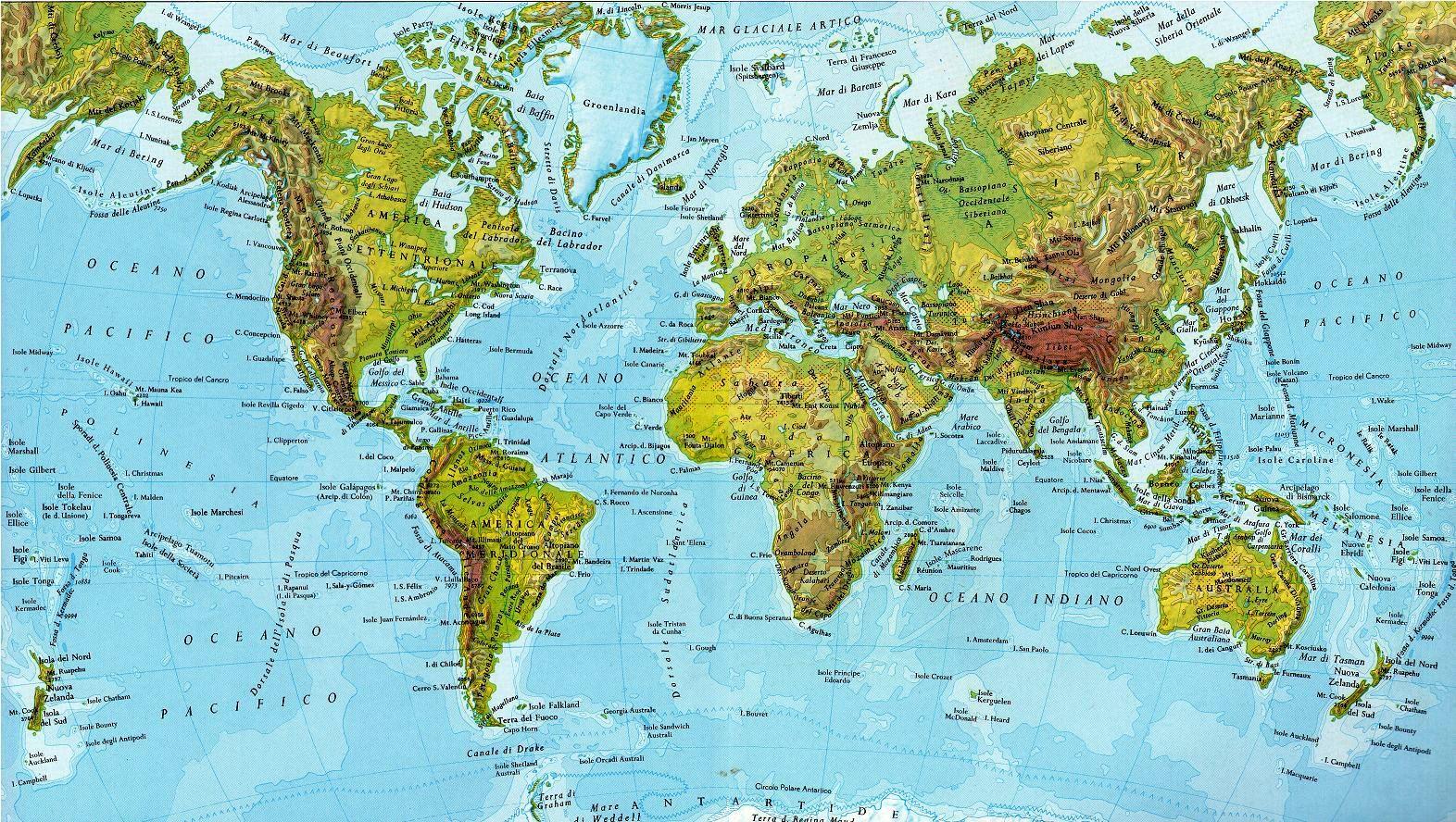 Cartina Geografica Del Mondo Fisica.Cartografia